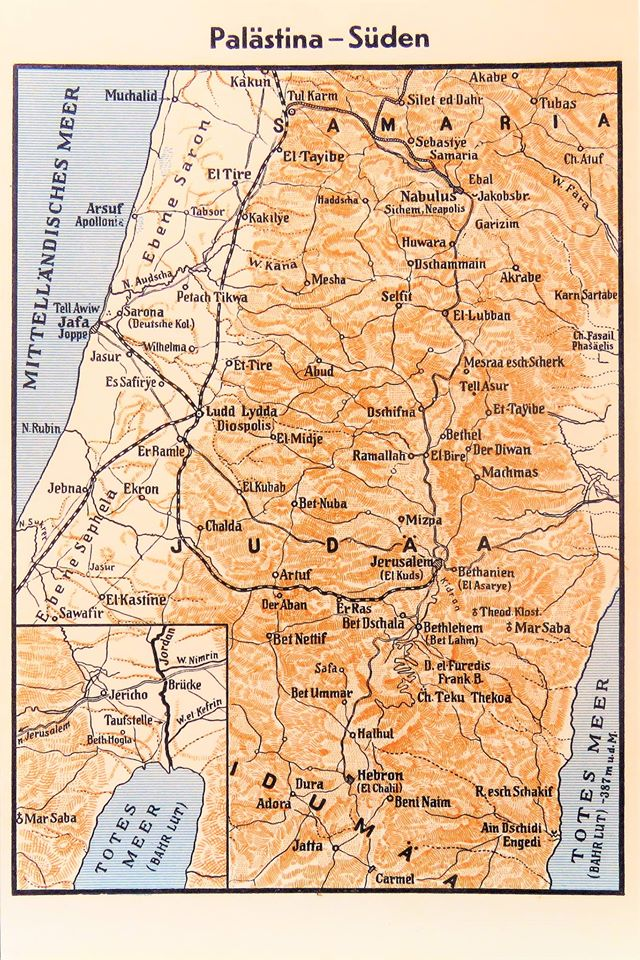 Christopher bollyn a map of southern palestine with jerusalem in the center gumiabroncs Choice Image