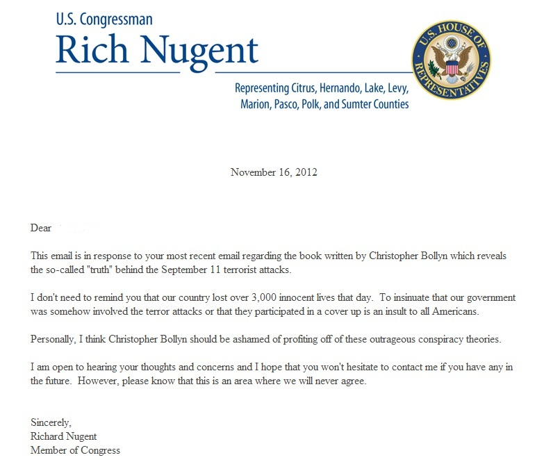 Sample Congressional Response Letter