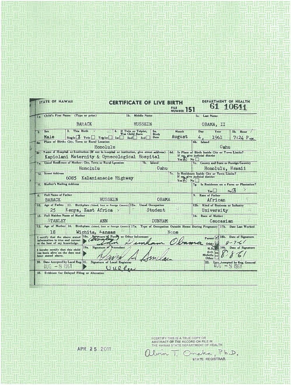 Christopher bollyn inconsistencies of obamas birth certificate aiddatafo Images