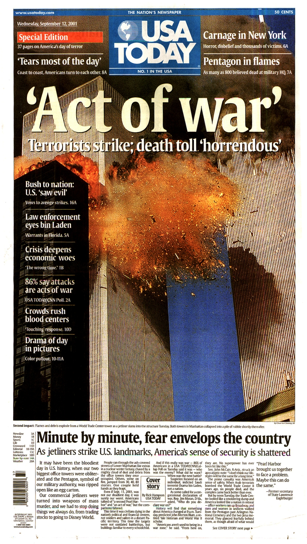 essay on wtc There have been numerous reports detailing the cause of the world trade center tower collapse on september 11, 2001 most have provided qualitative explanations however, simple quantitative analyses show that some common conclusions are incorrect for example, the steel could not melt in these flames and there was more structural damage than.